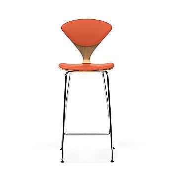 Red Gum frame / Sabrina Leather Robotic Orange Upholstery