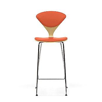 Natural Beech frame / Sabrina Leather Robotic Orange Upholstery