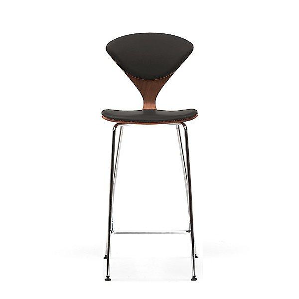 Cherner Seat and Back Upholstered Metal Base Stool