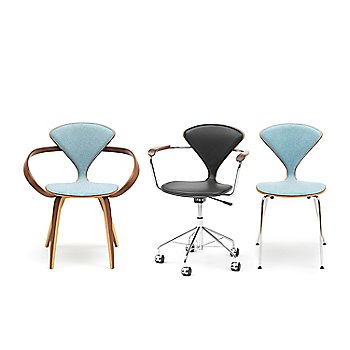 Cherner One Piece Upholstered Metal Base Chair