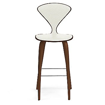 Natural Walnut Seat, Chrome Base finish / Upholstery Selection Divina 106