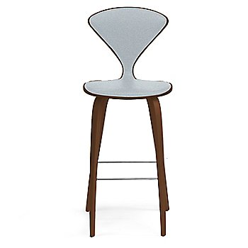 Natural Walnut Seat, Chrome Base finish / Upholstery Selection Divina 171