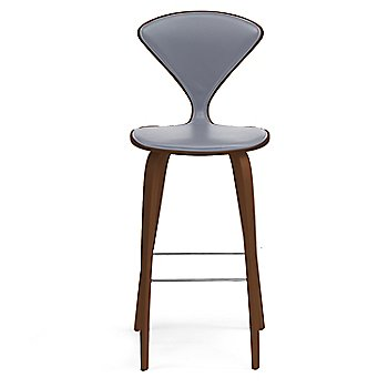 Natural Walnut Seat, Chrome Base finish / Upholstery Selection Divina 173