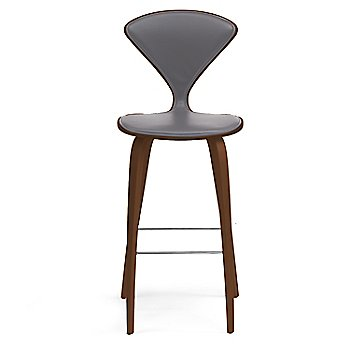 Natural Walnut Seat, Chrome Base finish / Upholstery Selection Divina 691