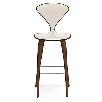 Natural Walnut Seat, Chrome Base finish / Upholstery Selection Vincenza Leather VZ-2122