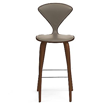 Natural Walnut Seat, Chrome Base finish / Upholstery Selection Vincenza Leather VZ-2101