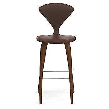 Natural Walnut Seat, Chrome Base finish / Upholstery Selection Sabrina Leather Coffee Bean