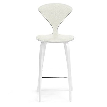 White Lacquer Seat, Chrome Base finish / Upholstery Selection Divina 106
