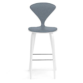 White Lacquer Seat, Chrome Base finish / Upholstery Selection Divina 154