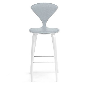White Lacquer Seat, Chrome Base finish / Upholstery Selection Divina 171