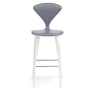 White Lacquer Seat, Chrome Base finish / Upholstery Selection Divina 173