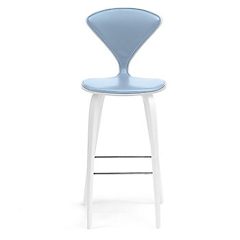 White Lacquer Seat, Chrome Base finish / Upholstery Selection Divina 712