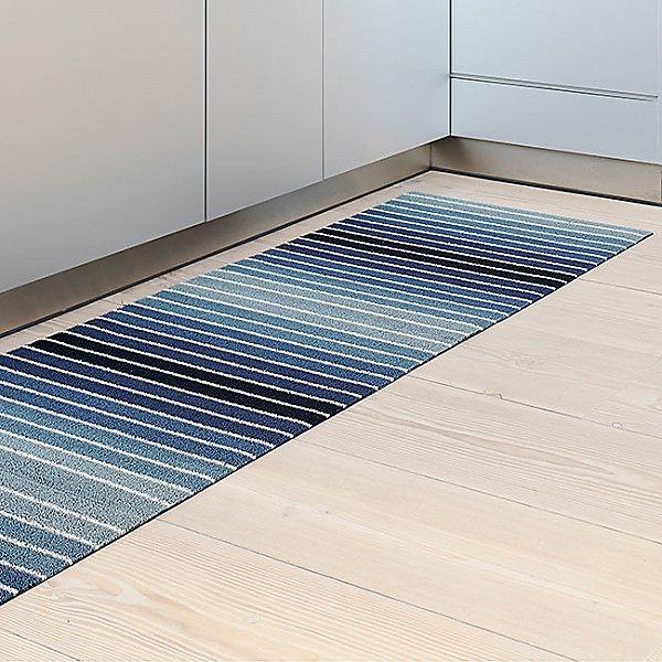 Block Stripe Shag Indoor/Outdoor Mat
