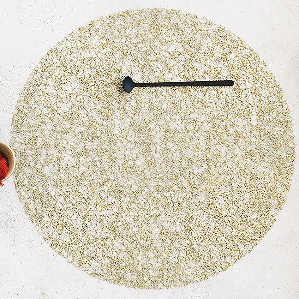 Metallic Lace Round Placemat