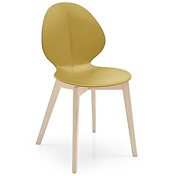 Shown in Mustard Yellow, Bleached Beech finish