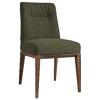Walnut finish / Tweed Forest Green fabric