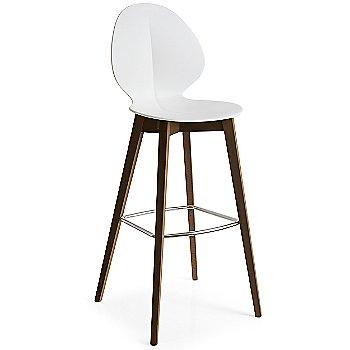 Bar Stool size / Matte Optic White Seat / Smoke Ashwood finish