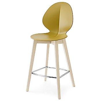 Counter Stool size / Matte Mustard Yellow Seat / Bleached Beech finish