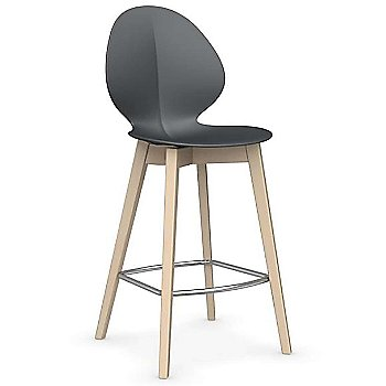 Counter Stool size / Matte Grey Seat / Bleached Beech finish