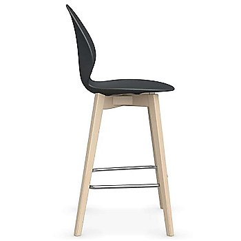 Counter Stool size / Matte Grey Seat / Bleached Beech finish / Side view
