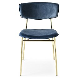 Fifties Upholstered Metal Chair