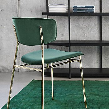 Venice Forest Green fabric / Polished Brass frame