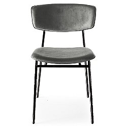 Fifties Upholstered Metal Chair