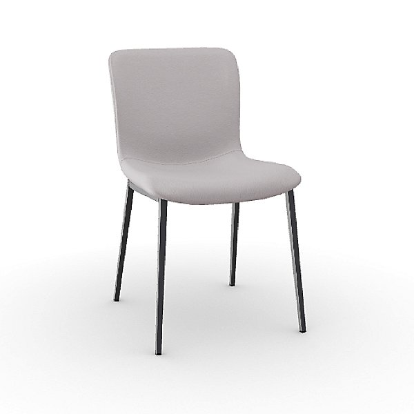 Annie Upholstered Metal Chair - Leather