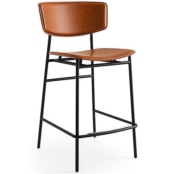 Fifties Upholstered Metal Stool