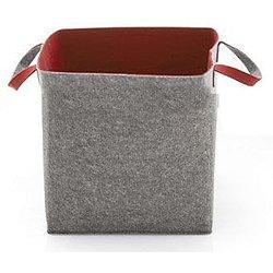 Elliot Storage Basket (Grey/Brick Red) - OPEN BOX RETURN