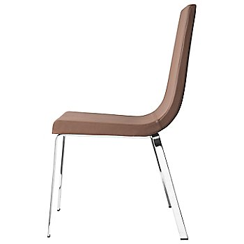 Shown in Leather Antilope Brown, Chromed finish