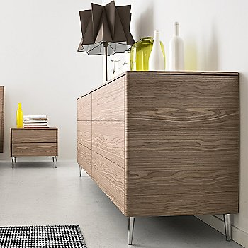 Shown in Natural finish, Polished Aluminum legs