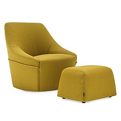 Alma Swivel Armchair And Pouf