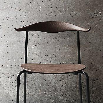 Smoked Chrome finish with Smoked Oak Seat