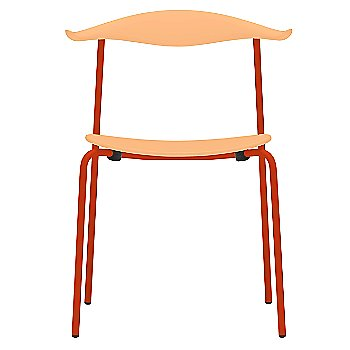 Orange Red finish / Beech - Lacquered seat