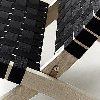 Black seat / Oak - White Oiled finish / Detail view