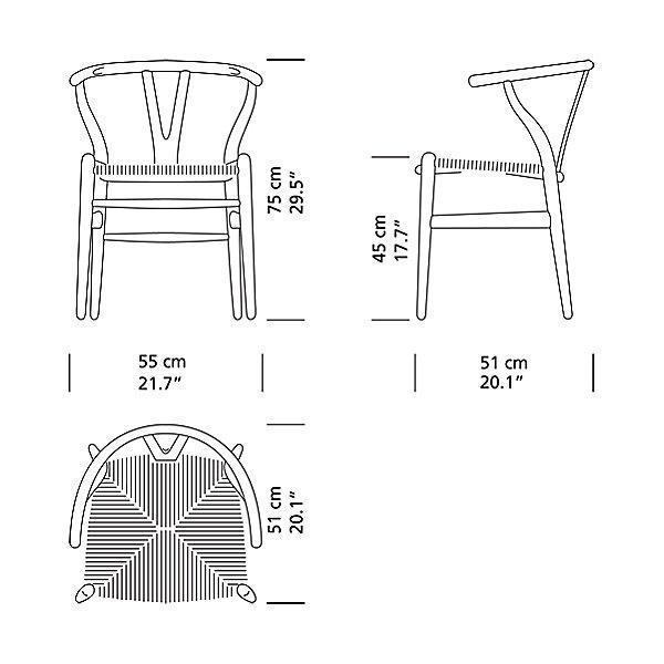 CH24 Wishbone Chair - Black Edition