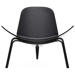 CH07 Shell Lounge Chair - Black Edition