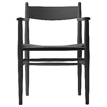Black Paper Cord seat / Beech - Black finish