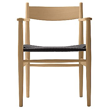 Black Paper Cord seat / Beech - Laquered finish