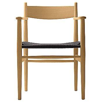 Black Paper Cord seat / Oak - Laquered finish