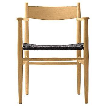 Black Paper Cord seat / Oak - Oiled finish