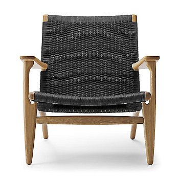 Oak - Laquered frame finish / Black Paper Cord seat