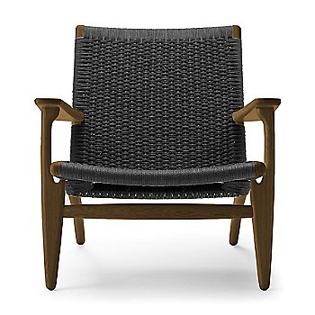 Smoked Oak - Oiled frame finish / Black Paper Cord seat