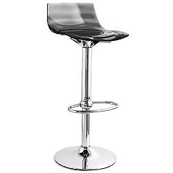 L'Eau Swivel Stool -  Rounded Profile Footrest