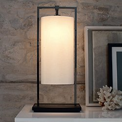 Athena Table Lamp (White Percaline) - OPEN BOX RETURN