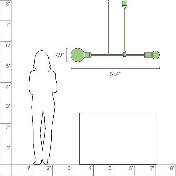 Solitario Linear Suspension Light