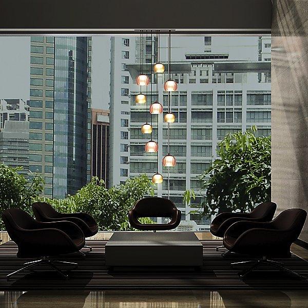 Kubric LED Multi-Light Pendant Light