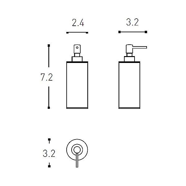 Architect Free Standing Soap Dispenser