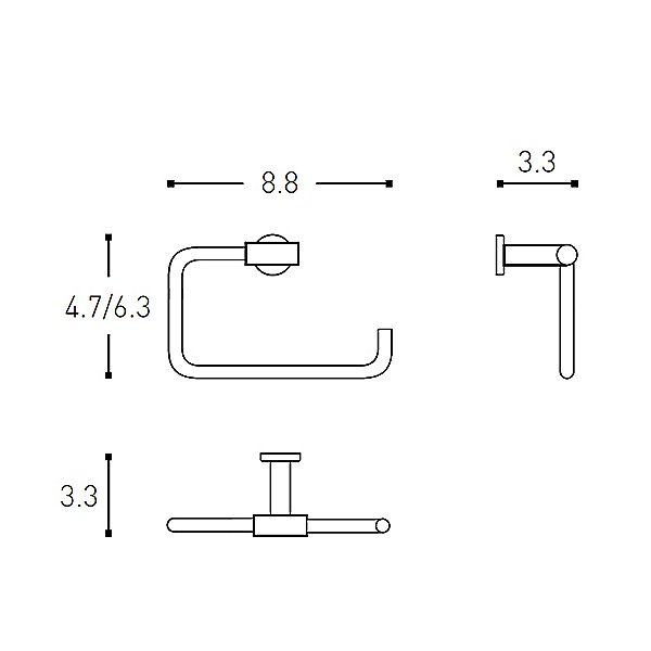 Architect Towel Ring